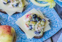 Teraleib mahejuustu ja sügisese õuna-viinamarjasalatiga - Retseptisahtel