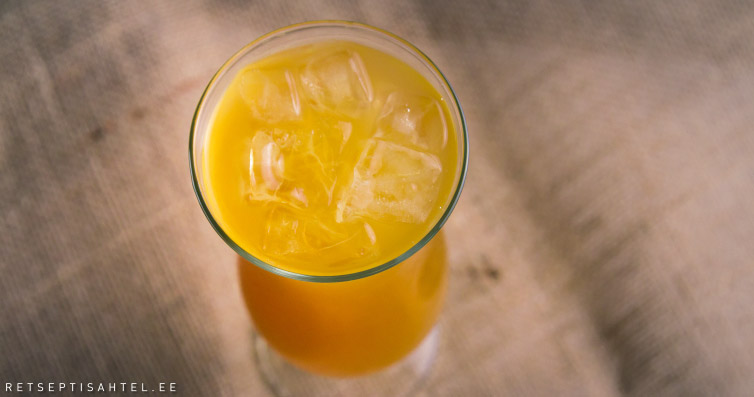 Kokteil ananassimahlaga Retseptisahtel
