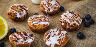 Täisterajahust muffinid sidruni ja mustikatega