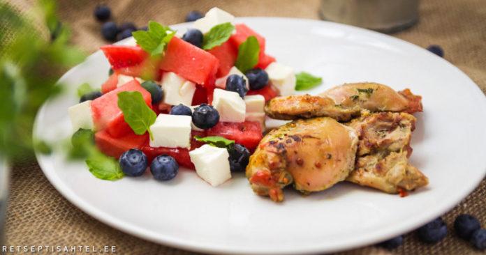 Arbuusi-feta salat
