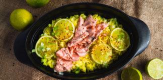 Pošeeritud kala ja sidruniriis