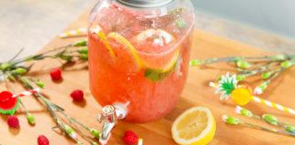 Limonaad maasikatega