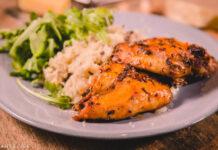 Grillitud kana seenerisottoga